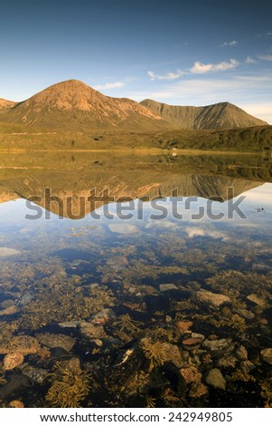 Scottish landscape on the Isle of Skye  - stock photo