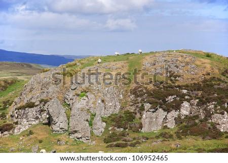 Scottish landscape with in the Skye island, UK - stock photo