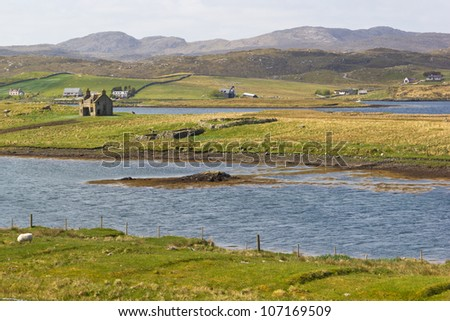 Scottish loch - stock photo