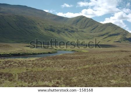 Scottish Mountain Glen - stock photo