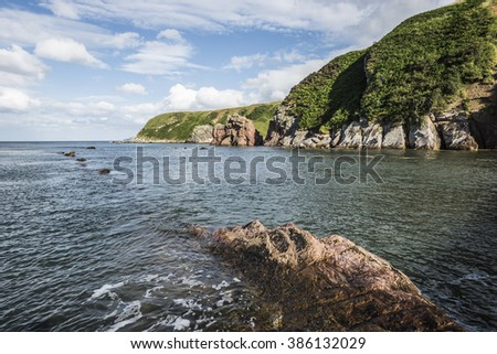 scottish nord sea coast - stock photo