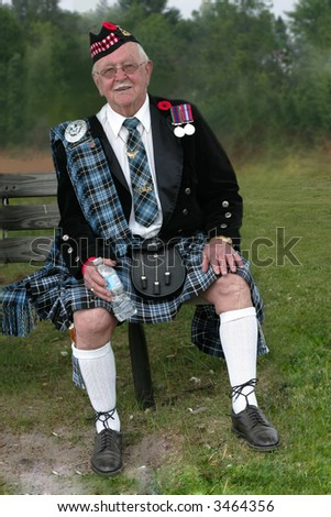 scottish war veteran - stock photo