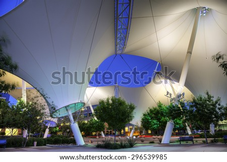 Scottsdale, AZ - April 8, 2015: Scottsdale landmark 