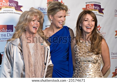 SCOTTSDALE, AZ - JANUARY 10: Connie Stevens, Megyn Kelly, and Jane Seymour at the Childhelp Drive the Dream Gala on January 10, 2009 in Scottsdale, AZ. - stock photo