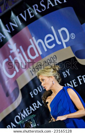 SCOTTSDALE, AZ - JANUARY 9: Fox News anchor Megyn Kelly receives the Childhelp Positive Impact in the Media Award at the Childhelp Drive the Dream Gala on January 9, 2009 in Scottsdale, AZ. - stock photo