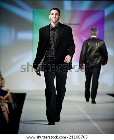 SCOTTSDALE, AZ - NOVEMBER 7th & 8th:  Scottsdale Fashion Week 2008, local designer & national store chains (Dillard's, Nordsrtom, GAP), in Old Town Scottsdale, AZ. - stock photo