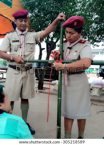 Scout Outdoor Activities / PHITSANULOK THAILAND - APRIL 30: Scout Outdoor Activities,phitsanulok thailand on april 30, 2015