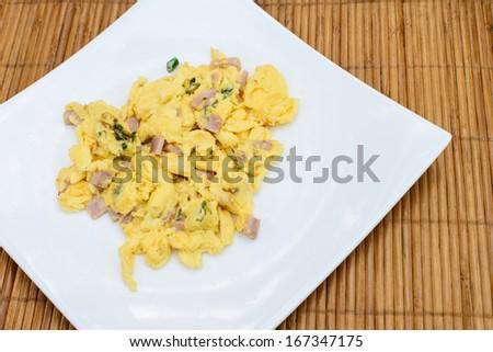 Scramble egg - stock photo
