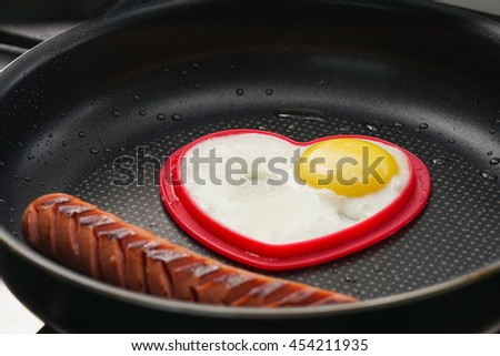 scrambled eggs and sausage