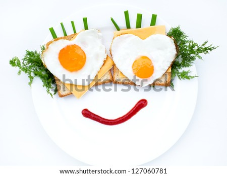 Scrambled eggs great dish for breakfast - stock photo