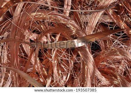Scrap copper wire  - stock photo