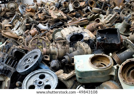 Scrap Iron & Steel - stock photo