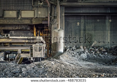 Scrap Metal Recycling, Processing Plant with Junk Metal and Debris