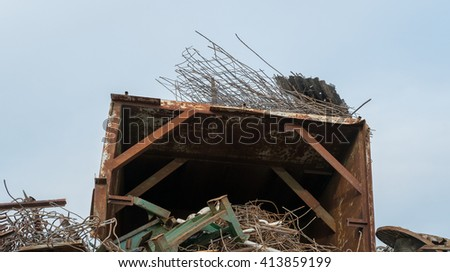 Scrap metal - scrap iron - used iron things.