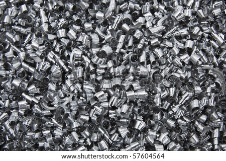 Scrap Metal Shavings - stock photo