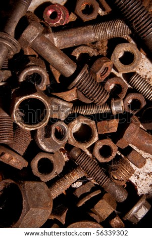 Scrap metal waste. - stock photo