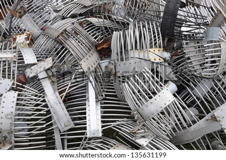 Scrap outdated technologies of wireless systems - stock photo