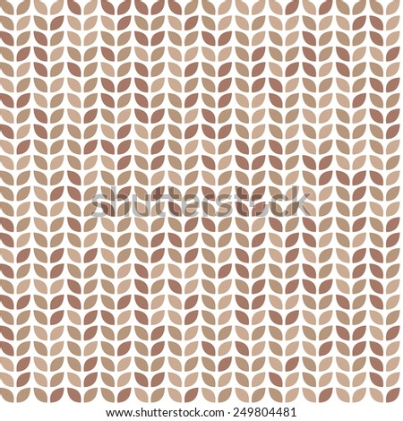 Scrap seamless pattern with brown leaves. Raster version - stock photo