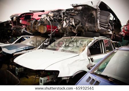 Scrap Vehicles - stock photo