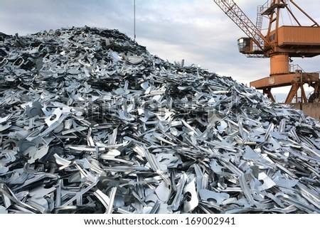 scrap yard - stock photo
