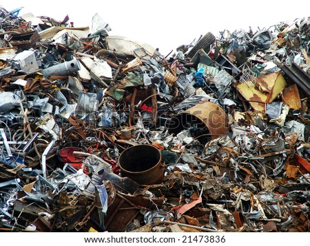 Scrap yard - stock photo