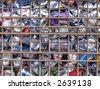 scrap yard background - stock photo