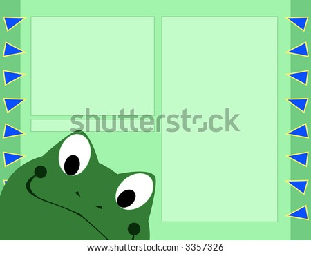Scrapbook Page Layout - Frog - stock photo