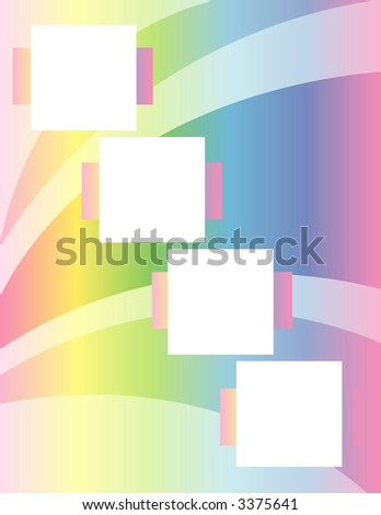 Scrapbook Page Layout - Rainbow Arch - stock photo