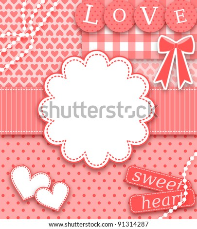 Scrapbook style Valentine greeting card