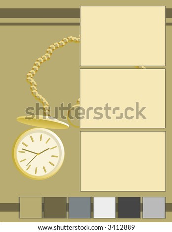 Scrapbook - Time Goes By - stock photo