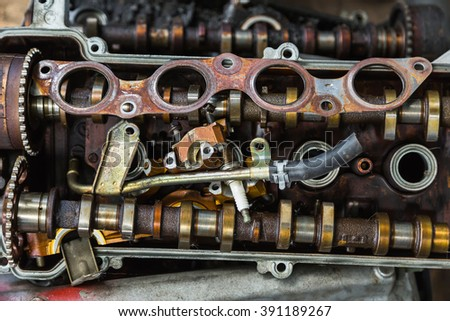 scrapheap old car engine parts stock photo royalty free 391189267 shutterstock. Black Bedroom Furniture Sets. Home Design Ideas