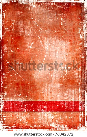 Scratch brown template - stock photo