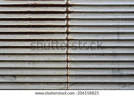 scratch rustic steel horizontal stripe background - stock photo