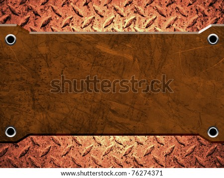 scratch rusty metal plate