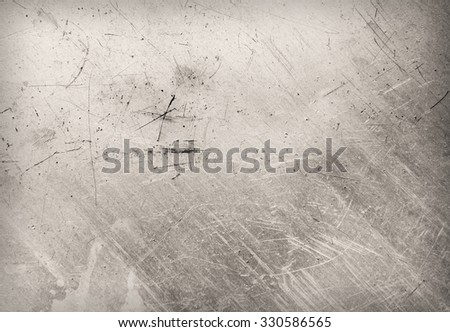 Scratched and spotted a metal sheet.  - stock photo