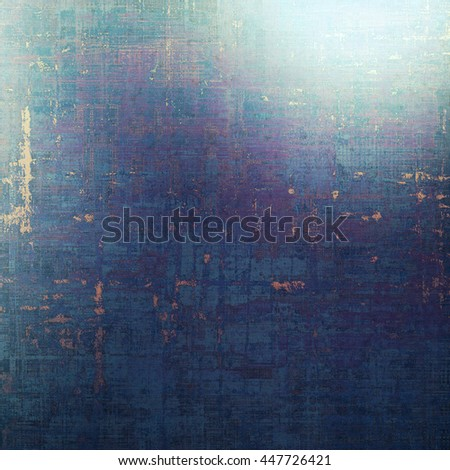 Scratched background with retro style overlay. Aged texture with different color patterns: yellow (beige); blue; black; gray; purple (violet); cyan - stock photo