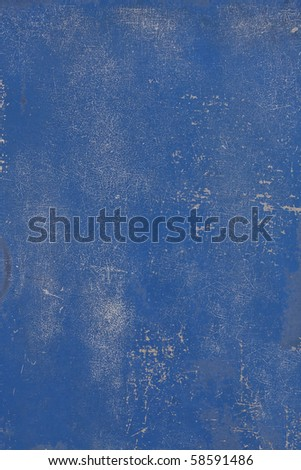 Scratched blue metal surface background texture