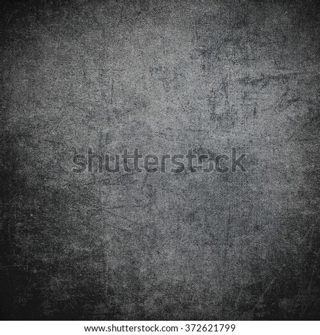 Scratched dark black or grey grunge concrete wall background - stock photo