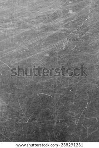 Scratched glass surface. black and white - stock photo