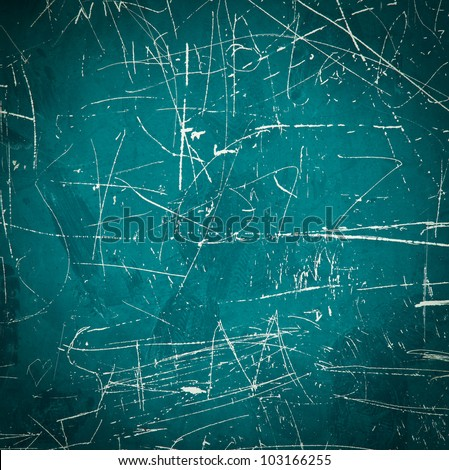 Scratched green damaged Metal Background - stock photo