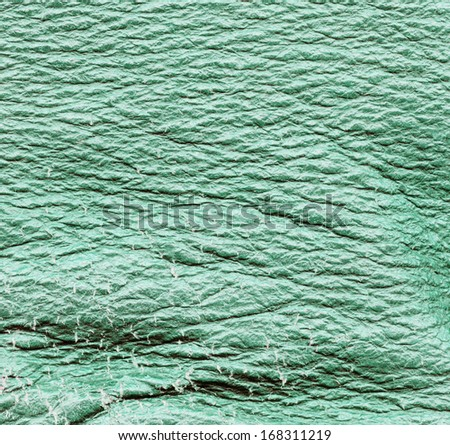 scratched  green leather texture