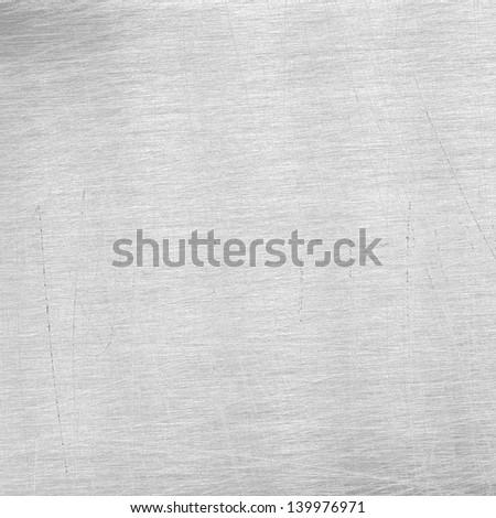 Scratched grey metal texture - stock photo