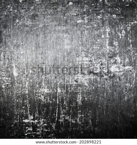 scratched grunge metal plate ; industrial abstract background - stock photo