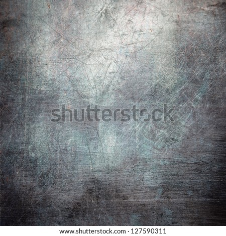 scratched grunge metal texture ; abstract industrial background - stock photo