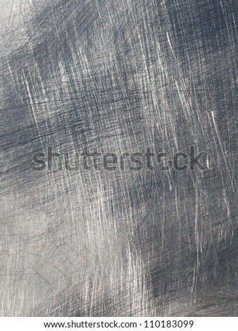 scratched metal plate - stock photo