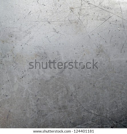 Scratched metal surface - stock photo
