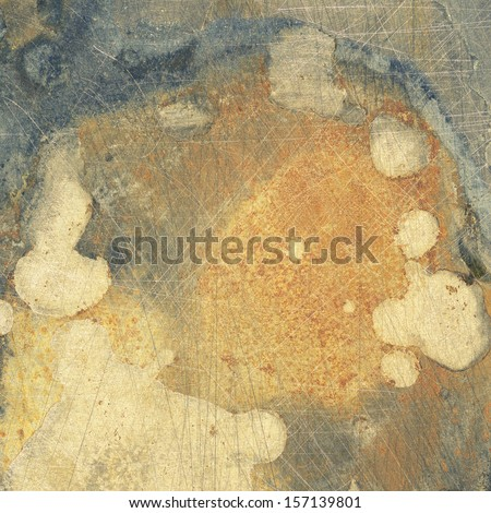 Scratched metal texture, aged metal background - stock photo