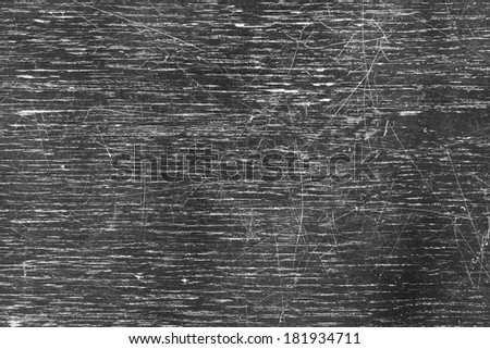 Scratched old black wooden table top surface texture - stock photo