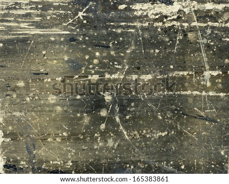 Scratched paint on metal texture, aged background - stock photo
