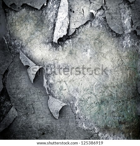scratched ripped metal plating ; grunge  background - stock photo